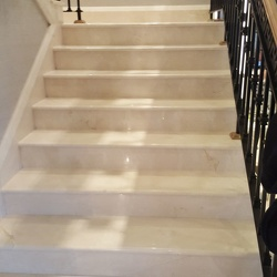 St James Cream Marfil marble staircase